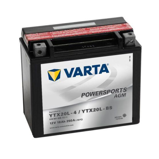 Varta YTX20L-BS